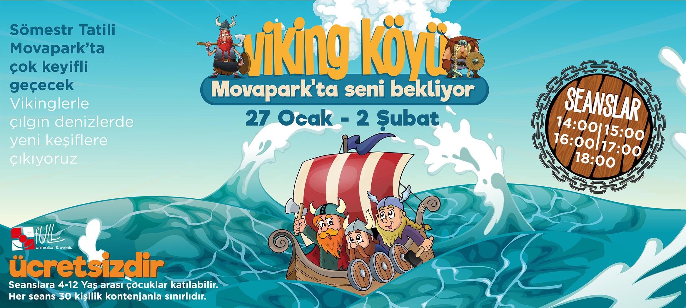 Viking Köyü Movapark'ta Seni Bekliyor!
